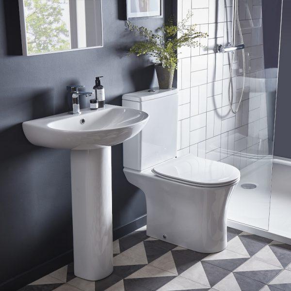 ESP Rimless Close Coupled Toilet & Soft Close Seat