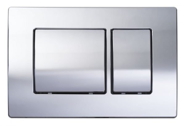 Simply Wall Hung WC Flush Plate Round Or Square In Chrome
