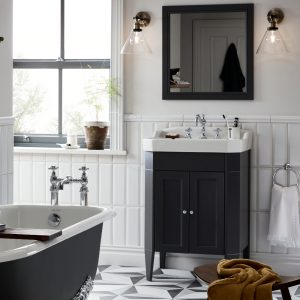 Granley Caversham 625mm Floor Standing Door Unit & Basin In Three Colours