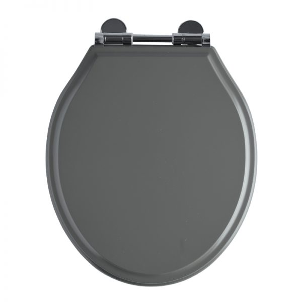 Hampton Soft Closing Toilet Seat With Chrome Hinges In Four Colours