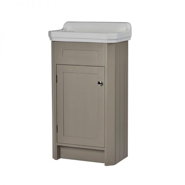 Harriet 500mm Floor Standing Door Cloakroom Unit & Basin In Three Colours