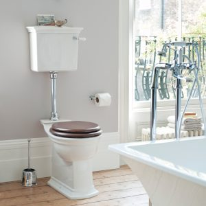 Heritage Blenheim Low Level Toilet Comfort Height with Ceramic Lever