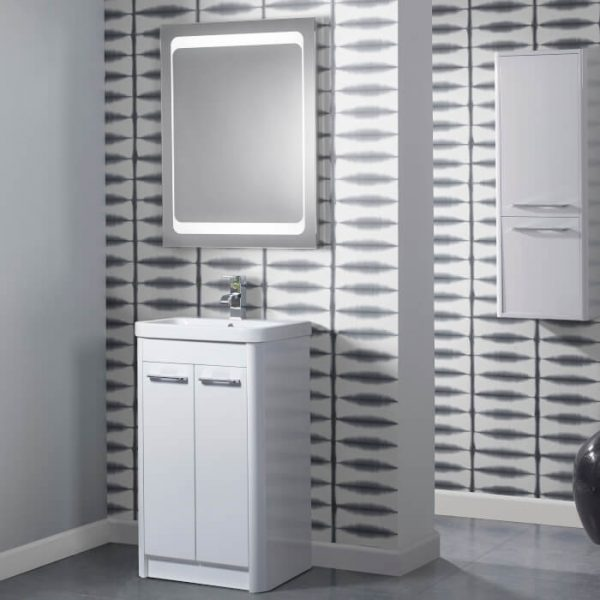 Sol 500mm Floor Standing Vanity Unit & Basin In Three Colours