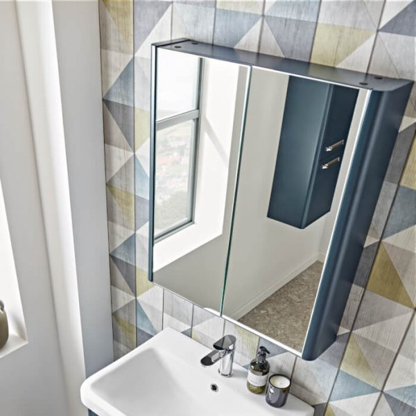 Sol 600mm Double Mirrored Wall Cabinet
