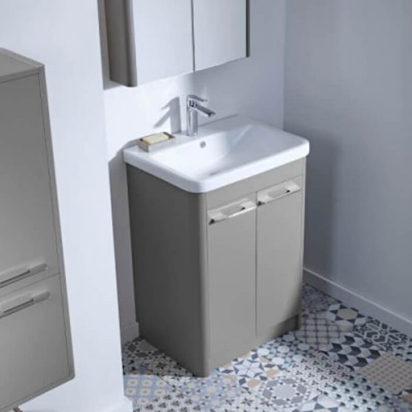 Sol 600mm Floor Standing Vanity Unit & Basin