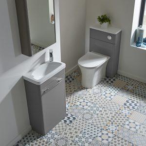 Sol 500mm Cloakroom Floor Standing Door Unit & Top In Three Colours