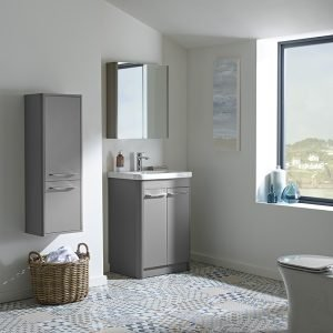 Sol 600mm Floor Standing Vanity Unit & Basin Top In Three Colours