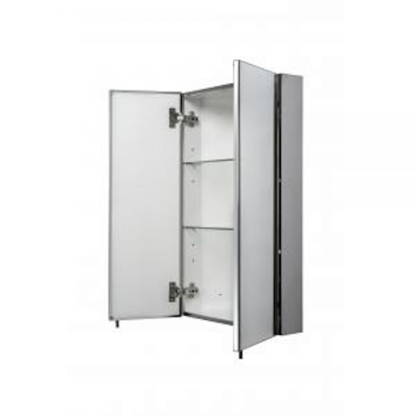 Avis Double Corner Mirrored Cabinet Stainless Steel 450 x 700mm - While Stocks Last