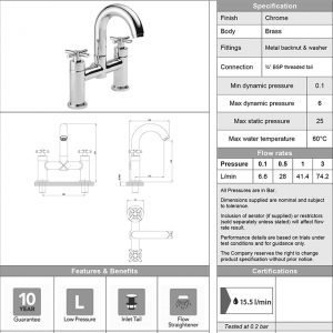 Armstrong Bath Shower Mixer Tap In Chrome