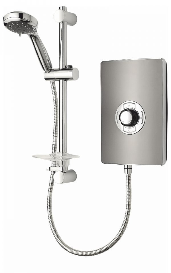Triton Aspirante Electric Shower In Gun Metal Grey 8.5 & 9.5 kw