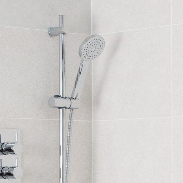 Contemporary Shower Rail Riser Kit In Chrome