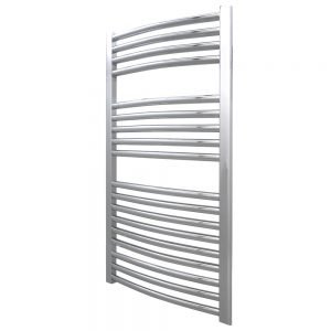 Deluxe Towel Rail 25mm Curved 600 Wide In Chrome Multiple Heights