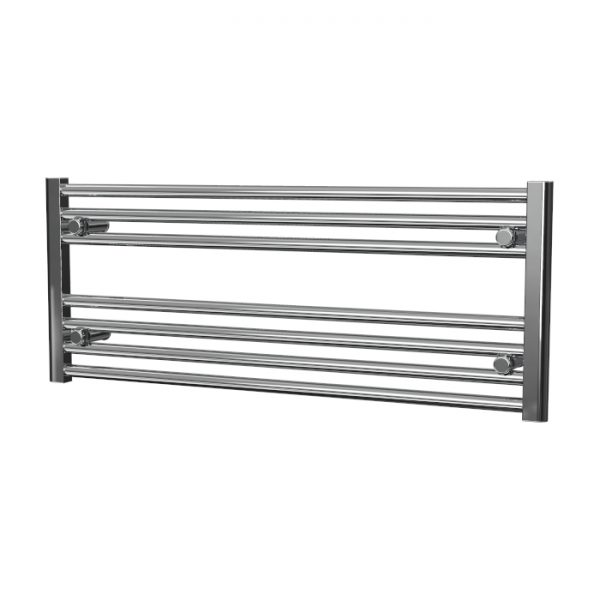 Deluxe Towel Rail 25mm Straight 1000 Wide In Chrome Multiple Heights