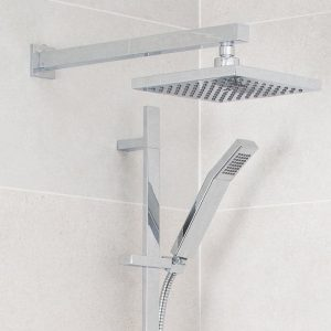 Designer ABS Square Shower Head 200x200mm In Chrome