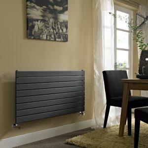 ESP Horizontal Single Panel Ultra Modern Radiator in Anthracite Matt