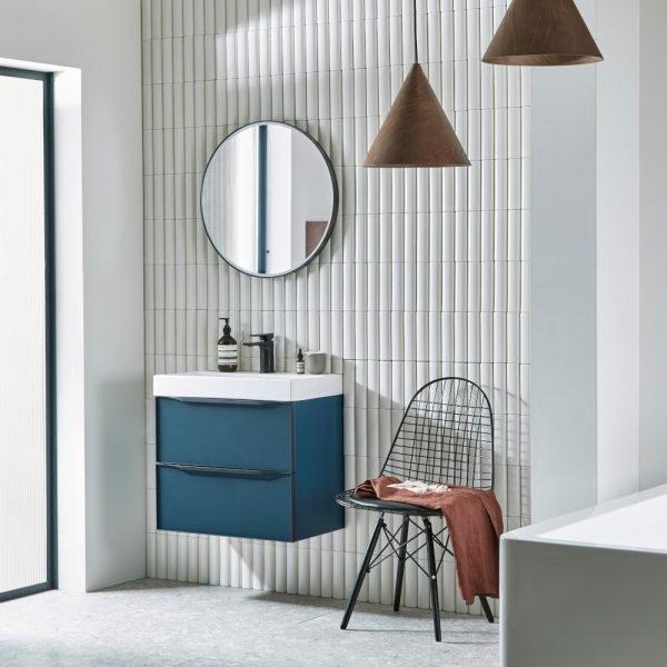 Bathroom Mirrors.Led Perimeter Frame Round Bathroom Mirrors 600 In White Grey