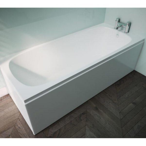 Pura Platto Bath Single Ended Puracast 1675x700mm In White