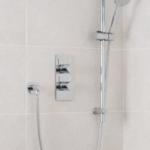 Round Deluxe Concealed Shower Valve Single Outlet In Chrome