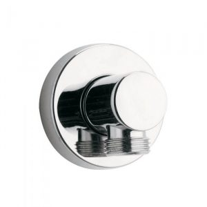Round Wall Outlet Elbow In Chrome