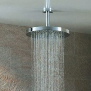 Simply Round Ceiling Shower Arm 75mm or 200mm In Chrome