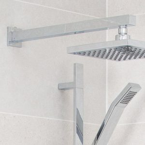 Simply Square Straight Shower Arm In Chrome
