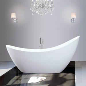 Slipper Single Ended Freestanding Bath 1750x750mm In White