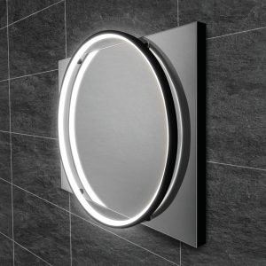Solas Illuminated LED Mirror In Chrome or Black 500x700 or 600x800mm