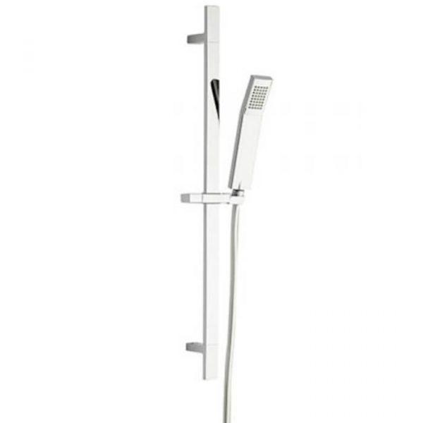 Square Shower Rail Riser Kit In Chrome