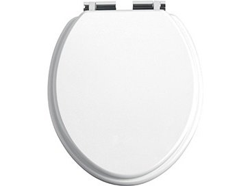 Heritage Soft Closing Toilet Seat With Chrome Hinges In Eight Colours