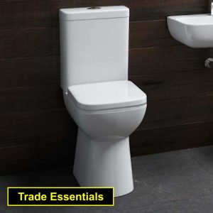 Waterloo Comfort Square Toilet Close Coupled & Soft Closing Seat