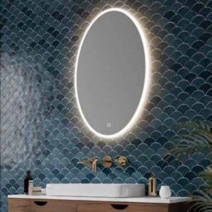 HIB Arena Oval LED Illuminated Mirror 500x800 & 600x1200mm