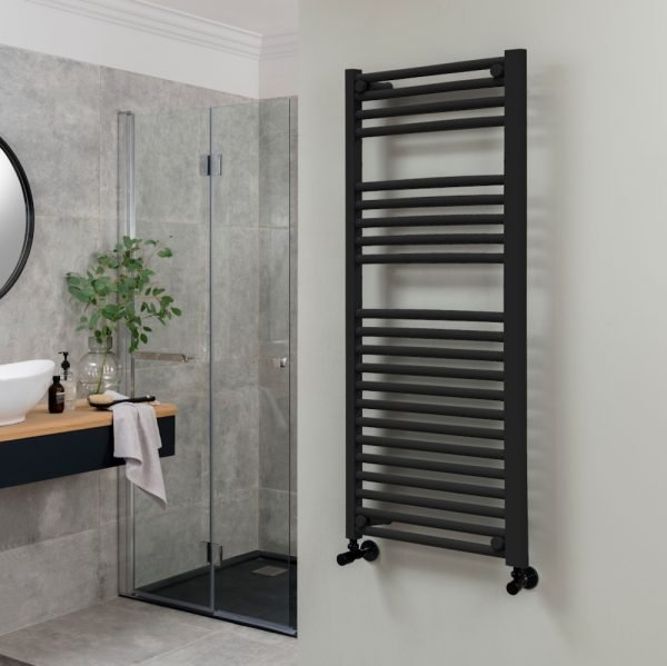 Towel Ladder Rail Deluxe Straight 25mm 300x1200mm Wide In Nine Colours