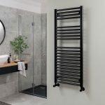 Towel Ladder Rail Deluxe Straight 25mm 600x1200mm Wide In Nine Colours