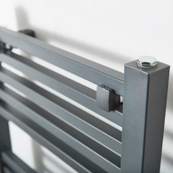 Loren Towel Rail 500 Width In Anthracite - Available in multiple Heights