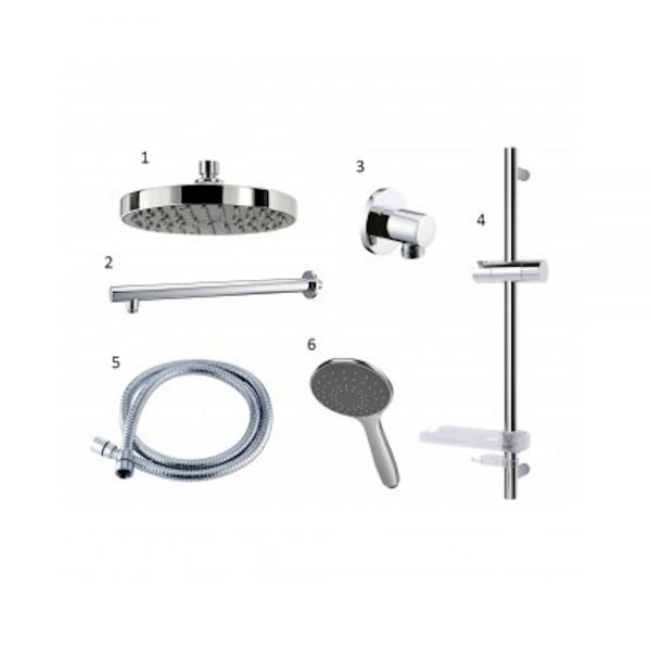 Triton Host Gravity Pumped Digital Shower Black Control With Kit