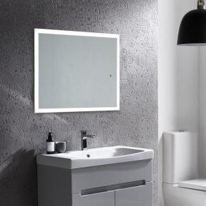 Slim Perimeter Illuminated LED Mirror In 450x700, 600x800 & 500x1200mm