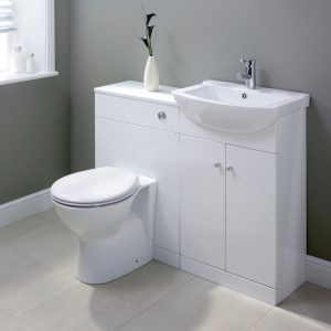 Akomi Floor Standing 550mm Vanity Unit & Basin In Three Colours