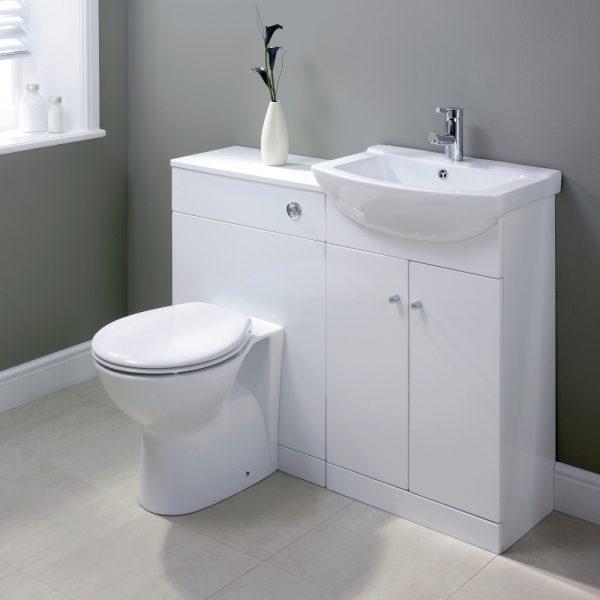Vanity Unit 550 mm /& Basin White Ceramic Sink 2 Doors