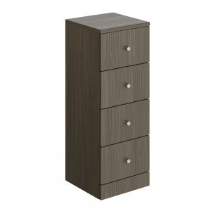 Akomi Freestanding Bathroom Storage Unit 4 Draw In Three Colours