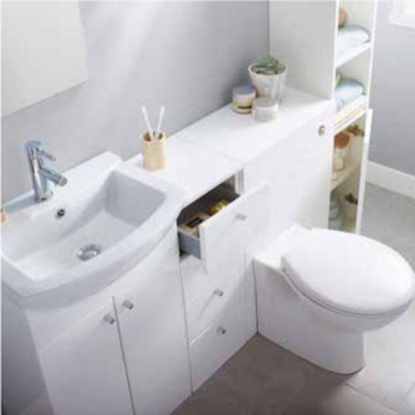 Akomi Freestanding Bathroom Storage Unit 4 Draw In Three Colours