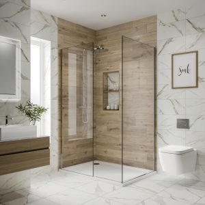 Anguilla White Matt Marble Wall Bathroom Tiles 250 x 500mm Per Box