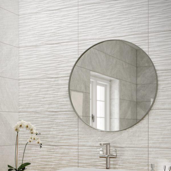 Antigua Grey Decor Wall Bathroom Tiles 250 x 500mm Per Box1