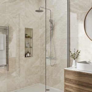 Antigua Ivory Wall Bathroom Tiles 250 x 500mm Per Box