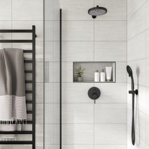 Barbados White Wall Bathroom Tiles 250 x 500mm Per Box