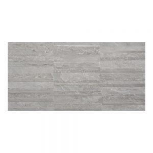 Cuba Grey Decor Wall Bathroom Tiles 250 x 500mm Per Box