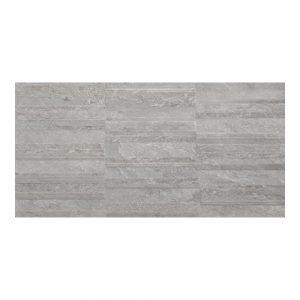Cuba Grey Decor Wall Bathroom Tiles 250 x 500mm Per Box
