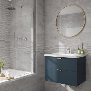 Cuba Grey Wall Bathroom Tiles 250 x 500mm Per Box