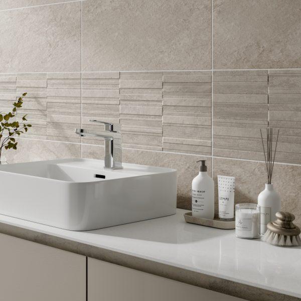 Cuba Ivory Wall Bathroom Tiles 250 x 500mm Per Box