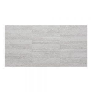 Cuba White Decor Wall Bathroom Tiles 250 x 500mm Per Box
