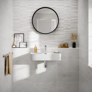 Cuba White Wall Bathroom Tiles 250 x 500mm Per Box